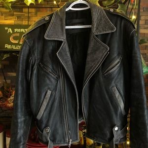 🏍 CLUB MONACO Leather Jacket